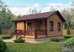 Дачный одноэтажный дом с террасой – Одноэтажный дачный дом с террасой