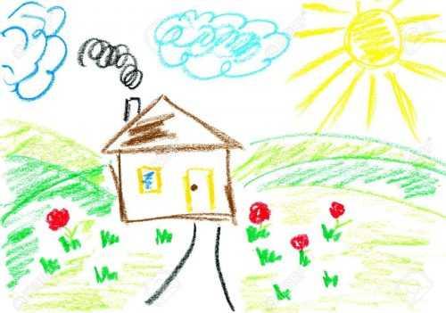 картинки домик для детского сада